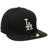 New Era LA Los Angeles Dodgers Basic Black MLB Cap 5950 Fitted Team Basecap