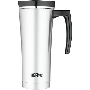Thermos 16-Ounce Vacuum Insulated Travel Mug, Black トラベル マグ タンブラー 水筒 450ml