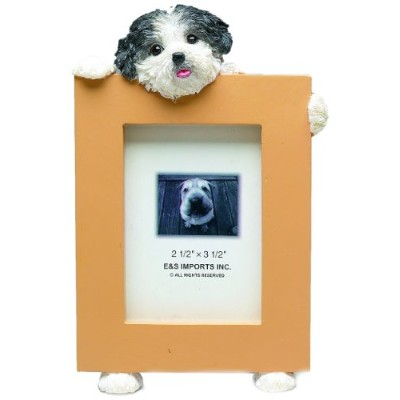 Shih Tzu Puppycut Black/White Dog - 2 1/2'' x 3 1/2'' Photo Frame by E&S Pets