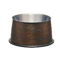 Loving Pets Artistic Antique No-Tip Dog Bowl, 48-Ounce, Copper by Loving Pets