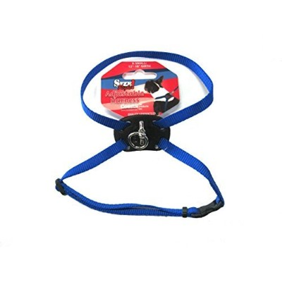 Size Right Adjustable Dog Harness Blue 12 to 18 Inches Girth with a Width of 3/8 in. by TopDawg Pet...
