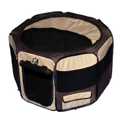 Pet Gear Travel Lite Octagon Pet Pen with Removable Top for Cat and Dog up to 30-Pound, 29-Inch,...