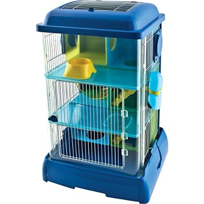 WARE BIRD/SM AN 089642 Critter Universe Avatower Small Pet Home Clear&Blue, 13.75X11.25X21 by WARE...