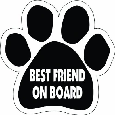 Imagine This Paw Car Magnet, Best Friend on Board, 5-1/2-Inch by 5-1/2-Inch by Imagine This