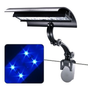 Wave-point 3-Watt Micro Sun Super Blue LED Clamp on Light, 6-Inch by Wave-point
