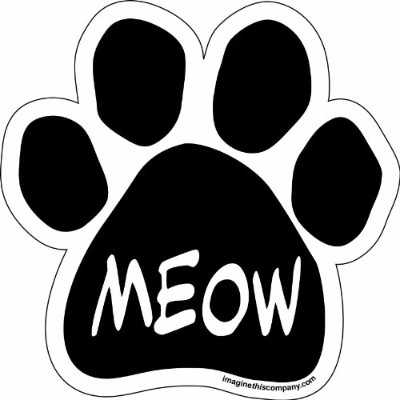 Imagine This Paw Car Magnet, Meow, 5-1/2-Inch by 5-1/2-Inch by Imagine This