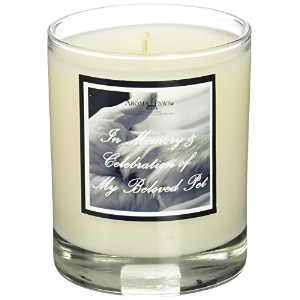 Aroma Paws Paw in Hand Black Memorial Candle, 8-Ounce by Aroma Paws