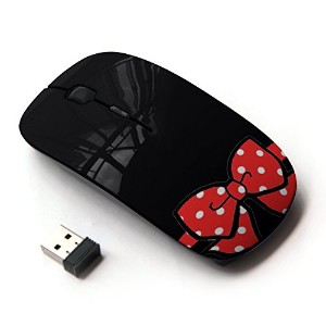 KOOLmouse [ ワイヤレスマウス 2.4Ghz無線光学式マウス ] [ Minnie Black Polka Dot Red Bow Gift ]