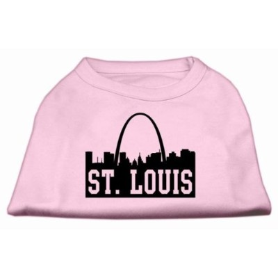 Mirage Pet Products 51-74 SMLPK St Louis Skyline Screen Print Shirt Light Pink Sm - 10