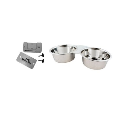 Kennel-Gear Double Bowl with Stainless Steel Yoke, 2 -Quart by Kennel-Gear