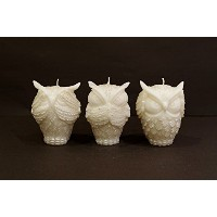 Bee My Candle OWL(フクロウ)Silver ~Three wise owls~