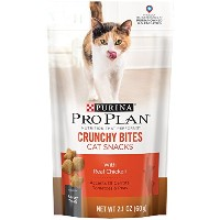 Purina Pro Plan Dry Cat Snack, Crunchy Bites With Real Chicken, 2.1-Ounce Pouch by Purina Pro Plan