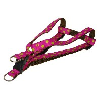 Sassy Dog Wear 18-24-Inch Fuchsia/Lime Dot Dog Harness, Medium by Sassy Dog Wear