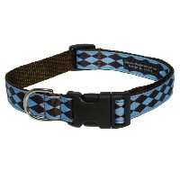 Sassy Dog Wear 13-20-Inch Blue/Brown Jester Dog Collar, Medium by Sassy Dog Wear