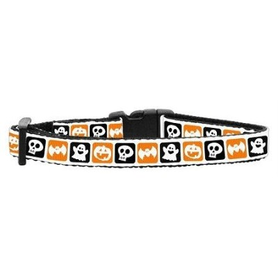 Mirage Pet Products 13-05 CT Classic Halloween Nylon Ribbon Collar Cat Safety