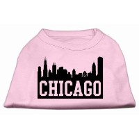 Mirage Pet Products 51-66 SMLPK Chicago Skyline Screen Print Shirt Light Pink Sm - 10