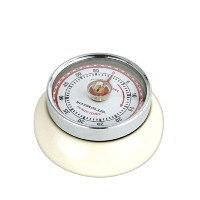 Zassenhaus Kitchen Timer with Magnet Retro Collection `Speed` in Ivory