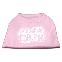 Mirage Pet Products 51-125 SMLPK Dirty Dogs Screen Print Shirt Light Pink Sm - 10