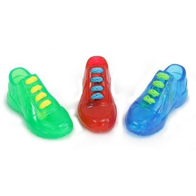 Multi Doglucent Sports Thermoplastic Rubber Sneakers with Laces Dog Chew Toys