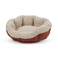 Petmate Aspen Pet Self Warming Cat And Dog Bed 19 Inch Round Spice-Creme 80135