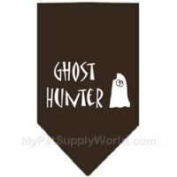 Mirage Pet Products 66-13-01 SMCO Ghost Hunter Screen Print Bandana Cocoa Small
