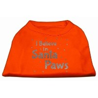 Mirage Pet Products 51-130 SMOR Screenprint Santa Paws Pet Shirt Orange Sm - 10