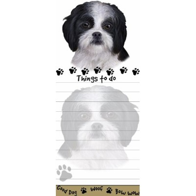 Shih Tzu Magnetic List Pads Uniquely Shaped Sticky Notepad Measures 8.5 by 3.5 Inches by E&S Pets