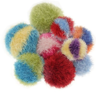 OoMaLoo Hand Knit Squeaky Ball Dog Toy Medium 3 1/2 (Ball-M) by OoMaloo