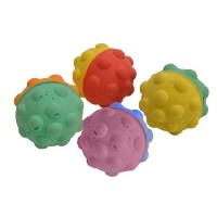 COASTAL PET RASCALS 1.5 SPONGE BUMPY BALL CAT TOY (COMES IN MULTI COLORS). by Coastal