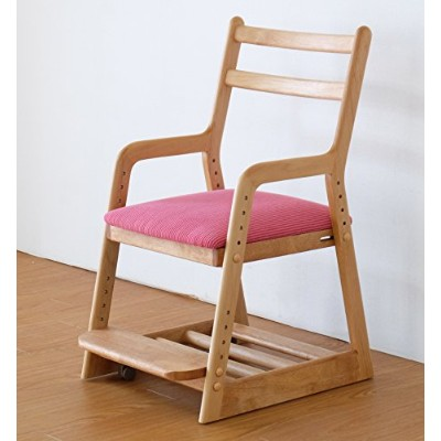 ISSEIKI 学童CHAIR チェア ピンク 木製家具 LIFE DESK CHAIR (NA+PI)