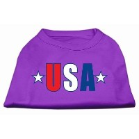 Mirage Pet Products 51-134 SMPR USA Star Screen Print Shirt Purple Sm - 10
