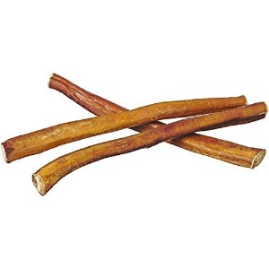 12 Straight Bully Sticks for Dogs [Large Thickness] - Natural Low Odor Bulk Dog Dental Treats, Best Thick Pizzle Chew Stix, 12 inch, Chemical Free by Pawstruck