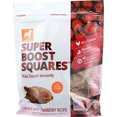 Dogswell All Natural Super Boost Chicken Cranberry Recipe Treats for Pet Dog 12z