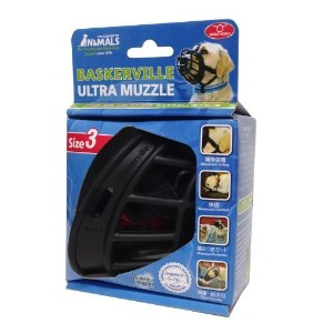Baskerville 6-1/2-Inch Rubber Ultra Muzzle, Size-3, Black by The Company Of Animals [並行輸入品]