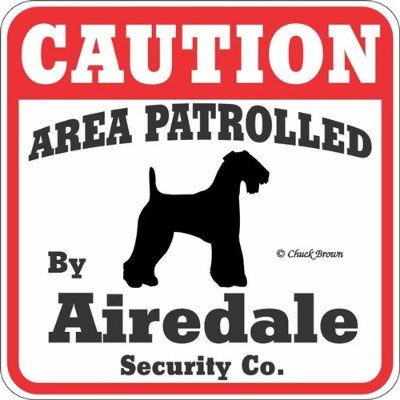 CAUTION AREA PATROLLED BY Airedale Security Co. サインボード:エアデール [並行輸入品]