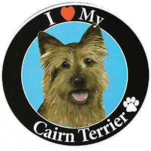 Cairn Terrier サークルマグネットステッカー:ケアーンテリア 画像イラスト入り 英語犬種名 Designed in the U.S.A [並行輸入品]