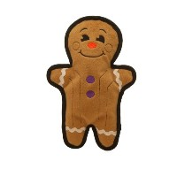 OUTWARD Hound Tuff Ones Gingerbread Man Squeaking Interactive Durable Dog Toy