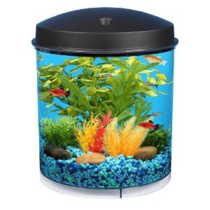 KollerCraft API Aquaview 360 Aquarium Kit with LED Lighting and Internal Filter, 2-Gallon by Tom ...
