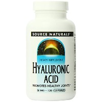 海外直送品Source Naturals Hyaluronic Acid, 120 Caps 50 mg