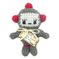 Pet Flys (ペットフライ) Knit Knacks Baby Bot Organic Cotton Small Dog Toy