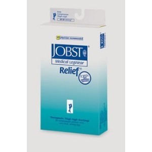 JOBST Relief Waist High, Closed Toe, 20-30 mmHg, X-Large, Beige, 1/Pair, JOB114659 by Jobst
