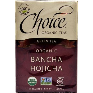 Choice Organic Teas Ban-Cha, Daily Japanese Green Tea, (Case of 6) / 16 Bags by Choice Organic Teas