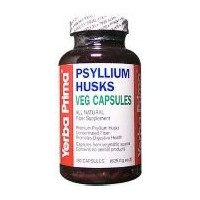 海外直送品Yerba Prima Psyllium Husks, 180 Vcaps (Pack of 4)