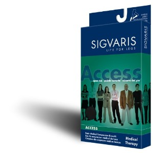 970 Access Series 20-30 mmHg Unisex Open Toe Knee High Sock Size: Small Short (SS) by Sigvaris
