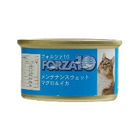 FORZA10|メンテナンス缶 まぐろ&イカ 85g×12缶セット キャットフード 猫缶 自然飼育・無農薬