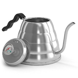 POUR OVER Coffee Kettle 1.2L - Stop Burning Your Beans - THERMOMETER Built-in by Coffee Gator - For...