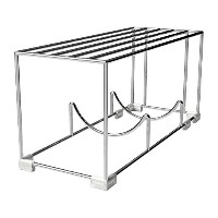 Mindfull Products Space Saving Wine Bottle Rack, Built-In Shelf, Stackable, Chrome Finish [並行輸入品]