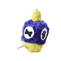 Copa Judaica Chewish Treat 4 by 6.5-Inch Hannukah Dreidel Squeaker Plush Dog Toy, Large, Multicolor...