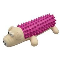 Amazing Pet Products Shaggy Latex Pig Squeek Toy, 6-Inch [並行輸入品]
