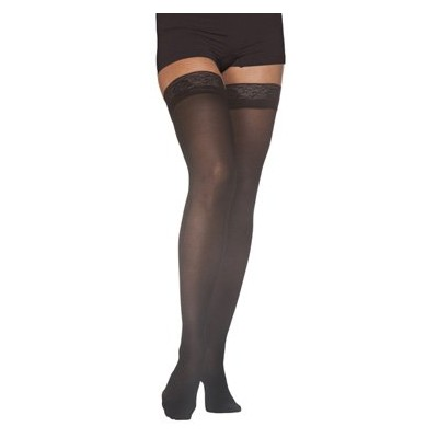 Sigvaris EverSheer Thigh High 15-20mmHg Women's Closed Toe Short Length, Medium Short, Black by...